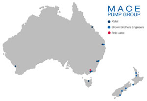 Mace Pump Group Locations Map
